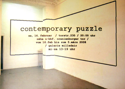 "Ausstellung ""contemporary puzzle"""